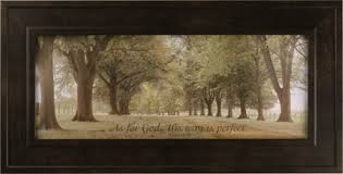 AVENUE OF TREES FRAMED ART PRINT WITH BIBLE VERSE