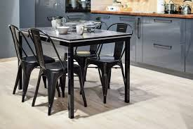 This Vintage Set Of Black Dining Table And Chairs Add A Bold Effect To Your Kitchen If You Have Big Space In Put The