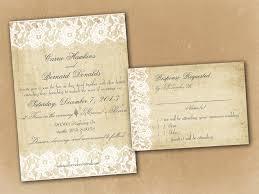 Templates Rustic Vintage Wedding Invitations