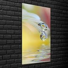 wandbilder glasbilder wohnzimmer 70x140 schöne blumen