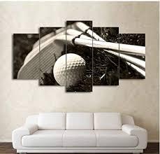 moderne wandkunst poster dekoration 5 panel golf clubs und