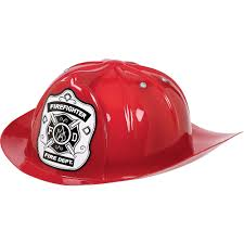 Child Red Firefighter Hat 9in X 4 1/4in | Party City