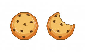 Chocolate chip cookie vector illustration Top View Premium Vector