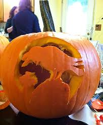 Puking Pumpkin Carving Ideas by Halloween Pumpkin Carving U0026 Book Club Party Back Inside