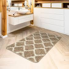 moderner hochflor badezimmer teppich einfarbig badematte