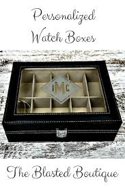 Mens Dresser Valet With Charger by Best 25 Personalized Watch Box Ideas On Pinterest Watch Box