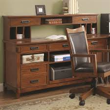 maclay computer credenza in red brown finish by coaster 801202
