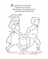 Mother Goose Nursery Rhymes Coloring Pages Jack And Jill Page