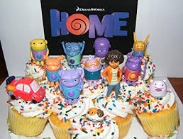 Amazon Dreamworks Home Figure Set Of 13 Deluxe Cake Toppers Large Cupcake Decorations Party Favors Featuring Oh Tip Pig Space Car