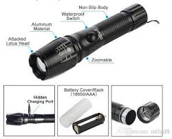 X10 Lamp Module Led by 2018 X10 Cree T6 Led Flashlight With 18650 Battery Torch Lamp