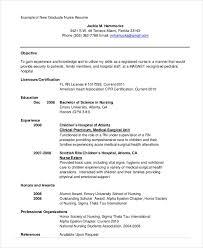 Sample Nursing Student Resume Example 10 Free Word PDF Documents
