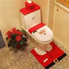 luoluo weihnachten toilettensitzbezug weihnachtsdeko wc