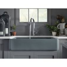 Double Farmhouse Sink Bathroom by Kohler K 6427 Ft Whitehaven Basalt Apron Front Double Bowl Kitchen