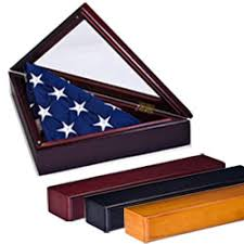 American Flag Frame With Pedestal Our Heirloom Quality Display Cases