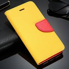 Leather Textured Wallet Flip Case Yellow iPhone 8 iPhone 7