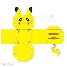 Pikachu Papercraft By CharrChan