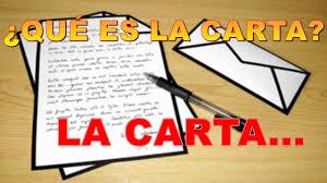 LA CARTA Y SUS CARACTERÍSTICAS BIEN EXPLICADO YouTube