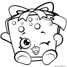 Season 7 Shopkins Party Gift Coloring Pages