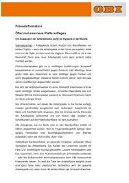 Hagebaumarkt Arbeitsplatte Kã Che Neue Arbeitsplatte Hygiene In Der Kã Che Obi