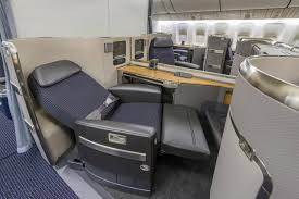 siege business air airlines boeing 777 300er w lay flat bed class