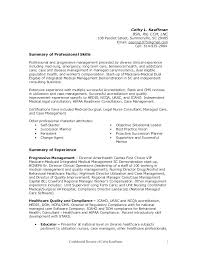 Healthcare It Resume Hospital Administration Sample