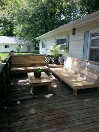 Make Your Own Outdoor Wooden Table by Home Made Patio Deck Diy Patio Furniture Built With Pallets