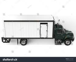 Dark Green Refrigerator Truck Top Down Stock Illustration 781310386 ...