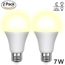 dusk to light bulbs amorno 7w e26 e27 smart sensor light
