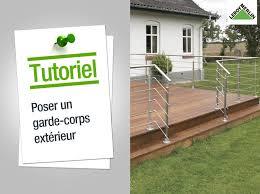 barriere escalier leroy merlin comment poser un garde corps extérieur leroy merlin