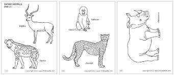 Safari Animals Coloring Page