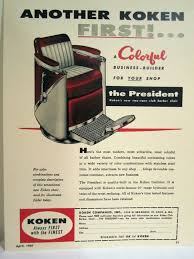 Koken Barber Chairs St Louis by Vintage 1950 U0027s Koken President Two Tone Club Barber Chair Color