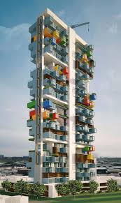 100 Recycled Container Housing GA Designs Radical Shipping Skyscraper For Mumbai