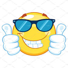 Yellow Emoticon Giving Two Thumbs Up Illustrations Creative Market
