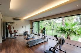 Artistic Home GYM Idea Simple Open Room For