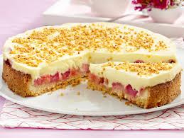 creme kuchen mit rhabarber so geht s lecker