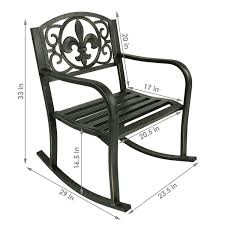 Sunnydaze Patio Rocking Chair, Durable Cast Iron ...