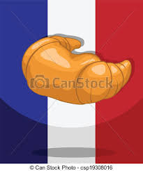 Croissant Bakery French Flag