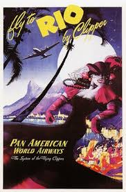 Vintage Pan Am Airline Rio Travel Poster A3 A2 Print