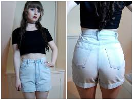 grunge light wash blue denim high waist denim shorts xs