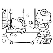 Hello Kitty Bathing Color Sheet