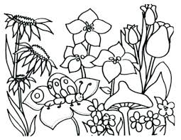 Spring Coloring Pages For Preschoolers 46 And Flowers Kids Abstract Flower