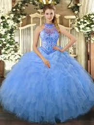 Fine Sleeveless Lace Up Floor Length Beading And Ruffles 15th Birthday Dress