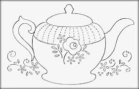 Decorative Teapot Coloring Pages Download And Print For Free With Printable