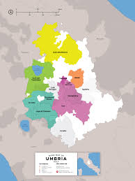 Umbria Wine Map Italy By Folly