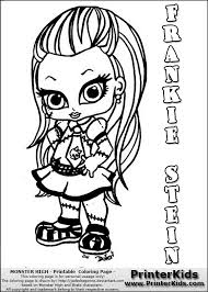 Beautiful Monster High Baby Coloring Pages 43 In Download With