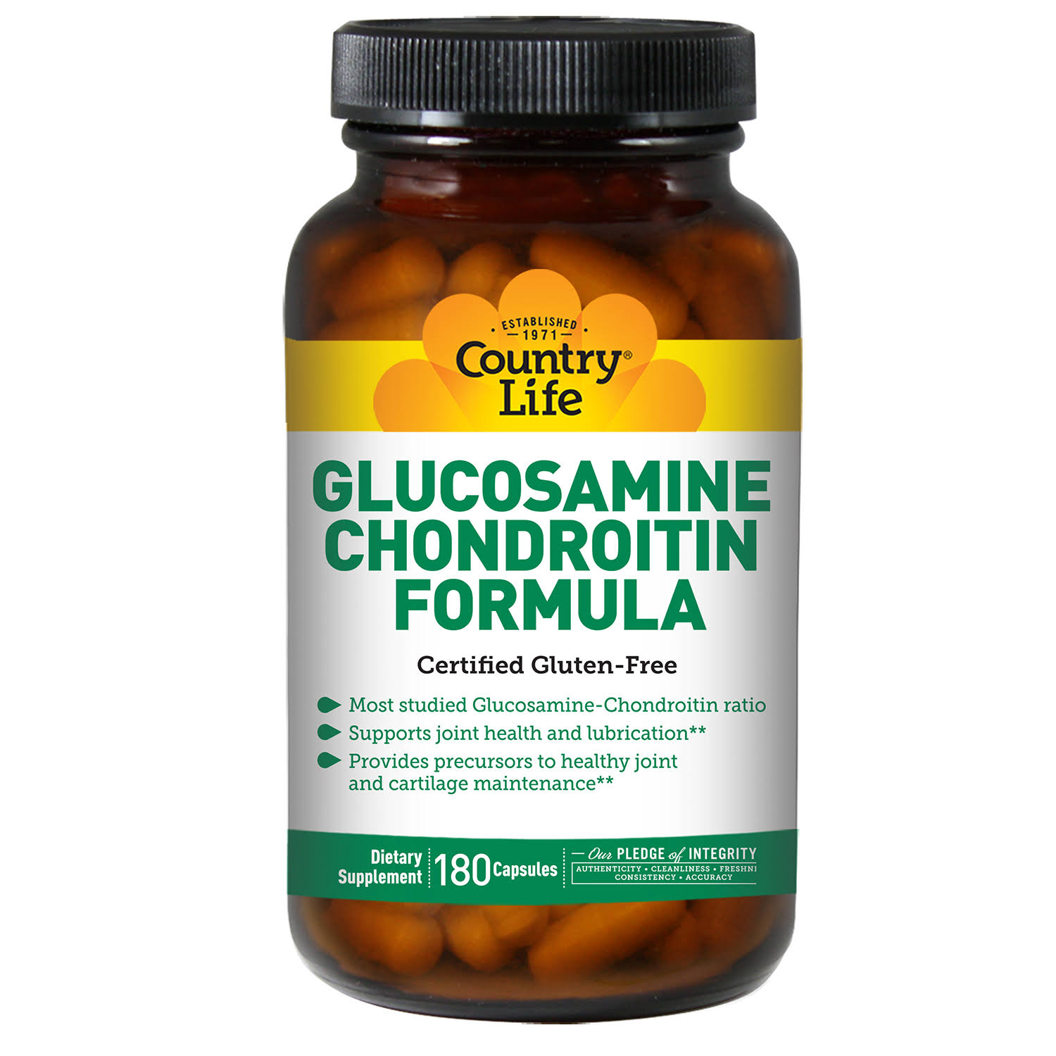 Country Life Glucosamine Chondroitin Formula Supplement - 180 Capsules