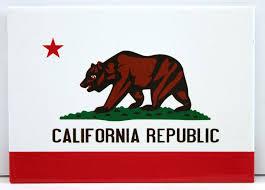 White California Republic Magnet