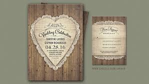 Burlap Lace And Wood Wedding Invitations