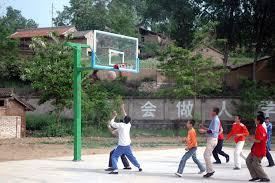 terrain de basket exterieur soutien aux écoles les enfants de madaifu