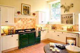 timeless kitchen design farmhouse with green aga traditional wall